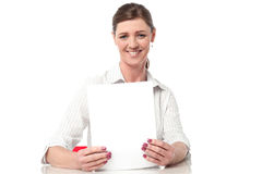 Corporate lady compiling annual reports Royalty Free Stock Photography