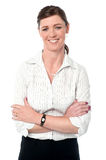 Corporate lady posing with confidence Stock Photography