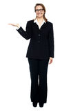 Corporate lady posing. Copy space concept Stock Photography