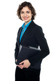 Corporate lady ready to attend annual business meet Stock Photos