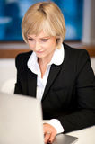 Corporate lady working on laptop Royalty Free Stock Photo