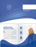 Corporate layout template Stock Photos