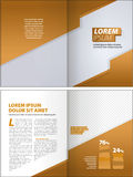 Corporate layout template Stock Image