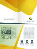 Corporate layout template Stock Images