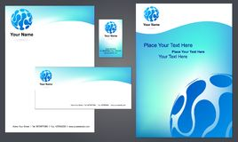 Corporate letterhead template #4 -   Royalty Free Stock Photography