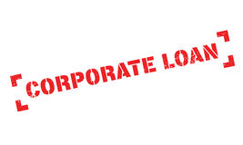 Corporate Loan rubber stamp Stock Photo