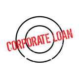 Corporate Loan rubber stamp Royalty Free Stock Image