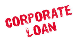Corporate Loan rubber stamp Stock Image
