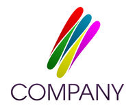 Corporate  logo. Vector illustration representing a logo shape for a business company Stock Images