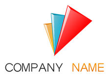 Corporate  logo. Vector illustration representing a logo shape for a business company Stock Photos