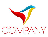 Corporate  logo. Vector illustration representing a logo shape for a business company Stock Image