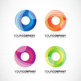 Corporate logo with circles colors for business stock illustration