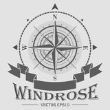 Corporate logo with compass rose Royalty Free Stock Images