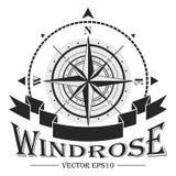 Corporate Logo con el windrose Imagenes de archivo