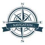 Corporate Logo con el windrose Imagen de archivo libre de regalías