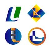 Corporate Logo L plantilla del diseño del vector de la compañía de la letra Imagen de archivo libre de regalías