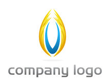 Corporate  logo vector - flame Stock Photo