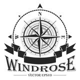 Corporate logo with windrose Stock Images