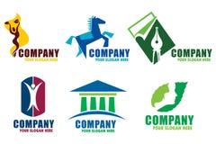 Corporate logos Stock Photography