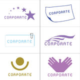 Corporate Logos Royalty Free Stock Photo