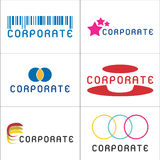 Corporate Logos. A set of illustrated corporate logos, isolated on a white background Royalty Free Stock Image