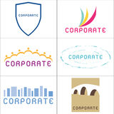 Corporate Logos royalty free illustration