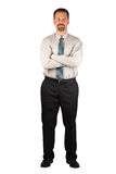 Corporate Man Standing Strong Stock Photography