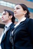 Corporate man & woman royalty free stock photo