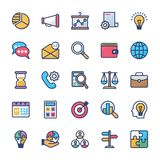 Corporate management and teamwork flat icons royalty free illustration