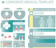 Corporate medical presentation. Report template. Human backgrounds, blue Vector cover and layout Great for scientific, medical purposes, exam Vector Illustration