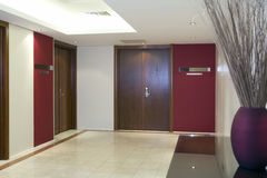 Corporate meeting room. The reception area of a corporate meeting room Stock Photography