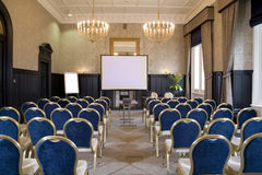 Corporate meeting room. With chairs and tables Royalty Free Stock Image
