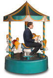 Corporate Merry-Go-Round Stock Photo