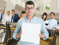 Corporate message Stock Image