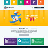 Corporate metro website template. Modern flat web design. Colorf Royalty Free Stock Photos