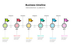 Corporate milestones graph elements. Business timeline in step c royalty free illustration