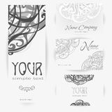 Corporate monochrome Identity vector templates set Royalty Free Stock Photo