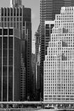 Corporate New York. Wall Street area in downtown NYC Royalty Free Stock Photography