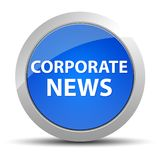 Corporate News blue round button royalty free illustration