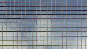 Corporate Office Building. Clouds Reflecting on Office Building Windows - Time Lapse stock footage