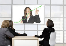 Corporate online trainning Stock Photo