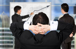 Corporate online trainning - man presenting Stock Images