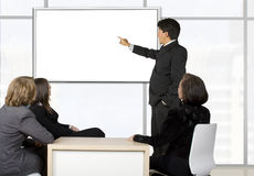 Corporate online trainning - man presenting Stock Photography