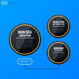 Corporate organization chart template on bright blue background Royalty Free Stock Image