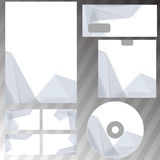 Corporate origami crystal style stationery set Stock Images