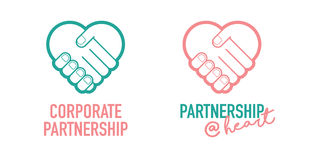 Corporate Partnership Business Successful Handshake Trading Deal Vector Icon. Corporate Partnership Best Deal Successful Stock Photos