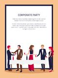 People Drinking and Talking Vector Illustration Stock Images