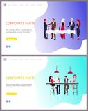 Corporate Party Team Building, Business Workers royalty free illustration