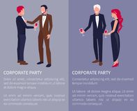 Corporate Party Visualization Vector Illustration Royalty Free Stock Image