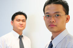 Corporate People. Two corporate asian males Stock Photo